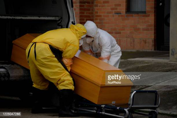 The cremation of the bodies that have died due to COVID19 is carried out in the Serafin cemetery located south of the capital Bogota Colombia on July...