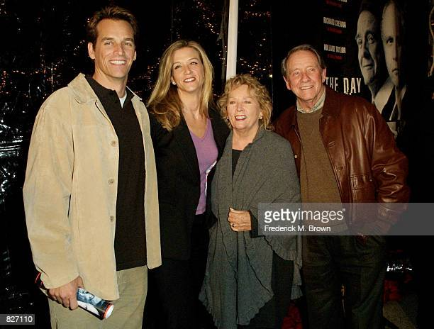 The Crenna family Rich Maria Penni and actor Richard Crenna pose for photographers at the premiere of the film The Day Reagan Was Shot December 4...