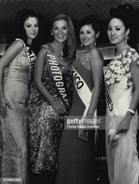 The Crest Hotel Kings Cross Tonight at a dinner held for the 20 beautiful contestants of the Miss Photography 1968 ContestsLeft to Right Miss...