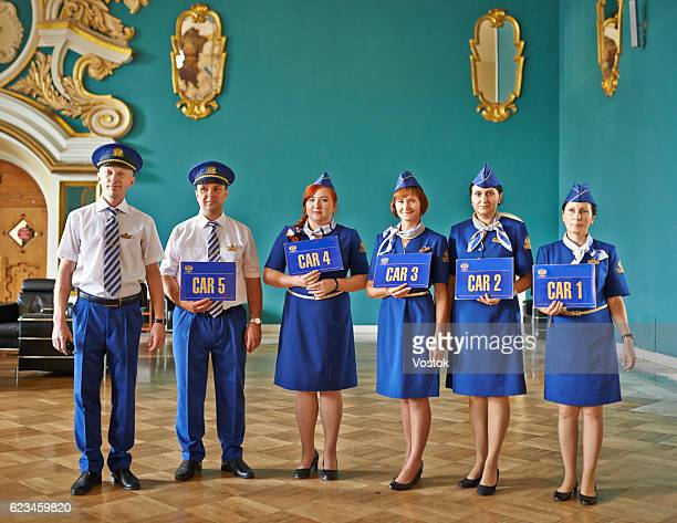 The crew from Trans Siberian Express luxury Train