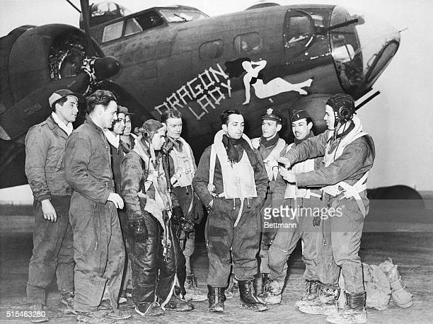 The crew of 'Dragon Lady' tell their experiences when they were attacked by Focke Wulfe fighters while raiding Nazi targets in France Lt Ray Lohr...