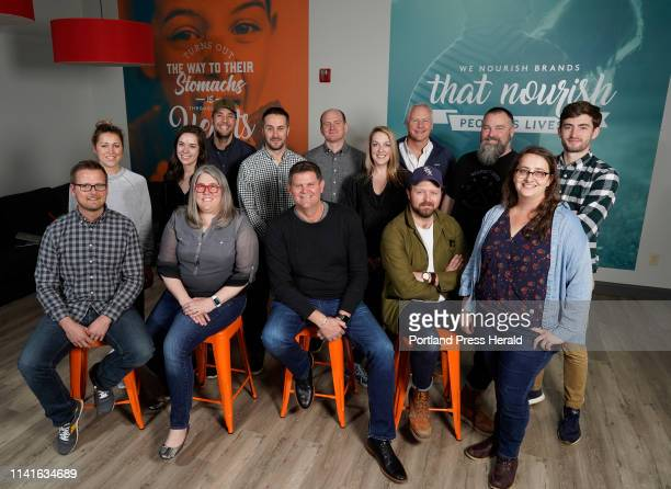 The crew of Garrand Moehlenkamp advertising agency pose for a photo in their Portland office on Friday May 3 2019 With founder Brenda Garrand...