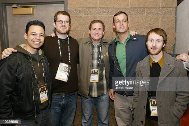 The crew of 'New York Doll' Rod Santiano cinematographer Seth Gordon producer cinematographer editor Greg Whiteley director and Ed Cunningham...