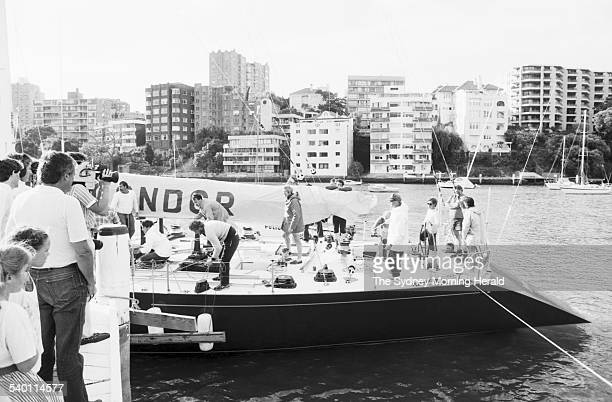 The crew of the 'Condor' returns to Sydney after withdrawing from the Sydney to Hobart race after the steering on their yacht broke Sydney 27...