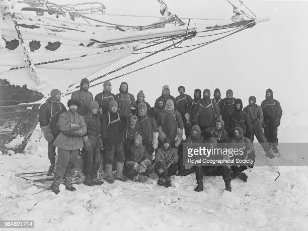 The crew of the 'Endurance' on the ice Antarctica 1914 Imperial TransAntarctic Expedition 19141916