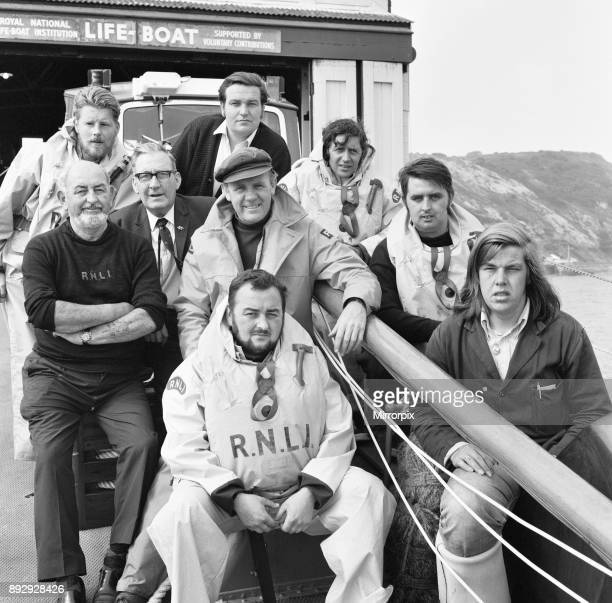 The crew of the Mumbles lifeboat William Gammon Manchester and District XXX In front are Brian Jeffery and Graham Wright Centre Harry Jeffery George...