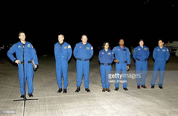 The crew of the Shuttle Space Shuttle Columbia STS107 Commander Rick Husband Pilot William Willie McCool Mission Specialists David Brown and Kalpana...