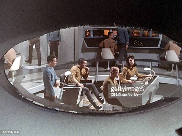 The crew of the USS Enterprise during the opening credit for tin the STAR TREK The Original Series episode The Cage This is the pilot episode...