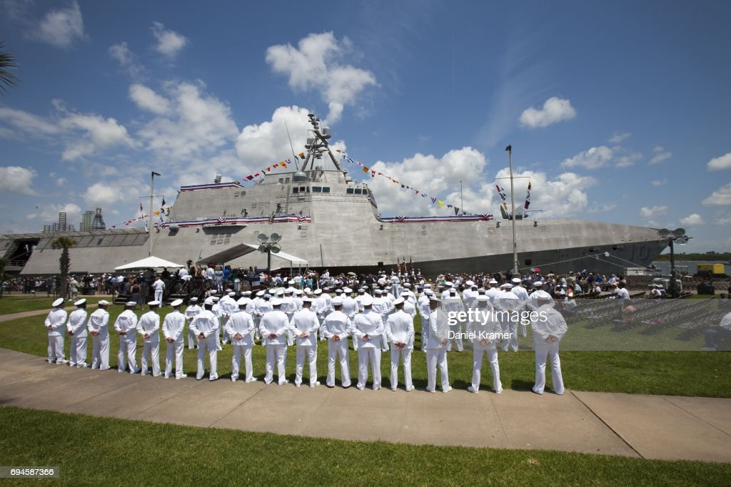Commissioning Ceremony Held For The USS Gabrielle Giffords