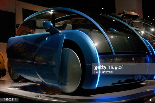 The Cricket from AI Artificial Intelligence is displayed during the opening of the new exhibit Hollywood Dream Machines Vehicles Of Science Fiction...