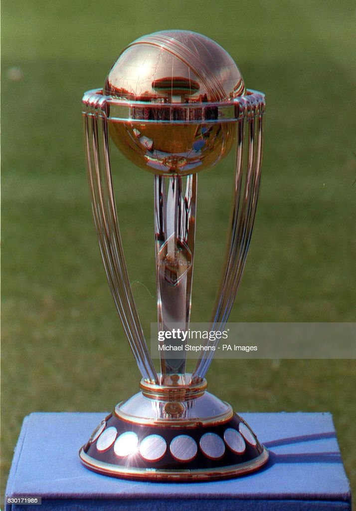 The Cricket World Cup Trophy Reflects New Natwest Media Centre During A Photocall At