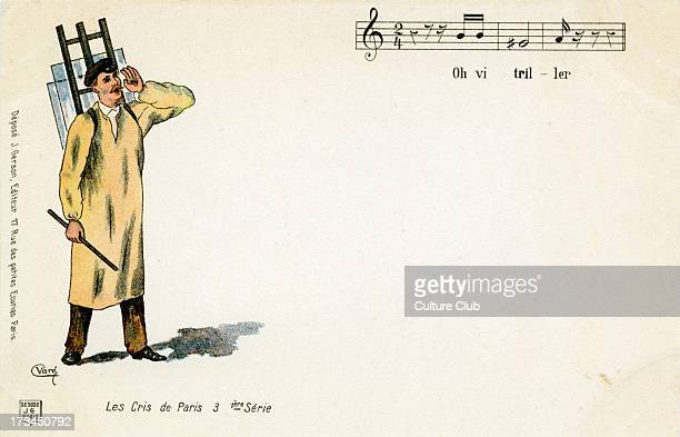 'The Cries of Paris' glazier Caption 'Oh vitriller'/ 'Oh glazier' With musical notation Layout by J Gerson 1st series no9