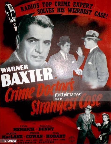 The Crime Doctor's Strangest Case poster Warren Baxter Reginald Denny Lynn Merrick 1943