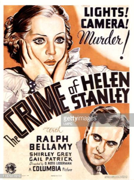 The Crime Of Helen Stanley poster US poster art from top Shirley Grey Ralph Bellamy 1934