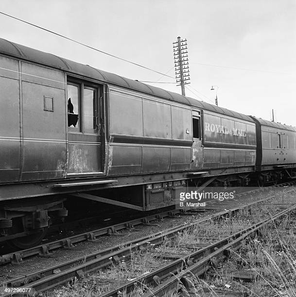 The crime scene at Sears Crossing Ledburn Buckinghamshire after the Great Train Robbery 8th August 1963 A Royal Mail train was held up and over 26...