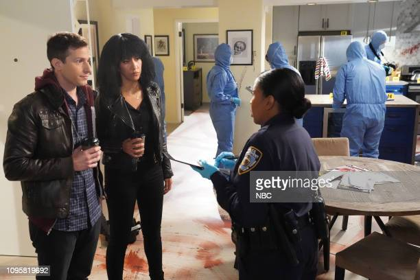 NINE The Crime Scene Episode 605 Pictured Andy Samberg as Jake Peralta Stephanie Beatriz as Rosa Diaz