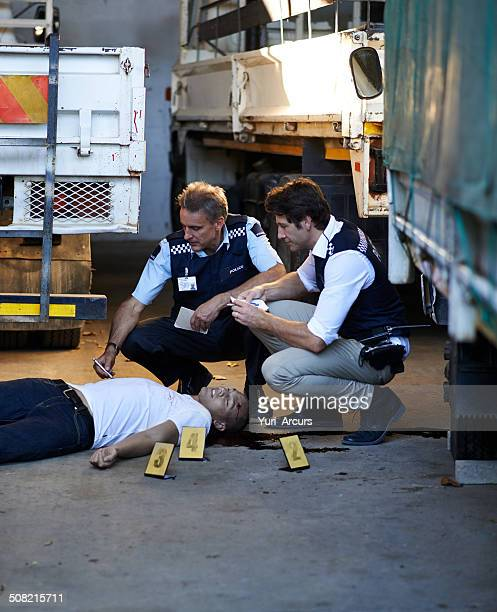 the crime scene evidience is essential - malicious wounding stock photos and pictures