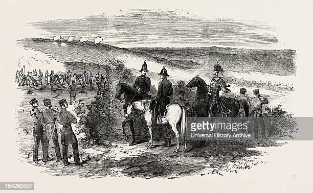 Sortie Of The Russians From Sebastopol General Sir De Lacy Evans And Staff 1854