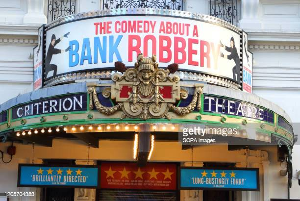 The Criterion theatre in Piccadilly Circus current home to 'The Comedy About a Bank Robbery' in London's home of Theatre The West End Some of the...