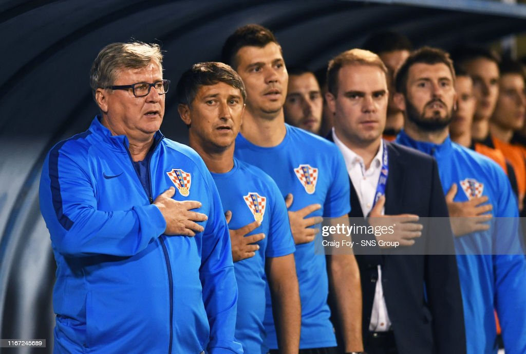 The Croatian management team are pictured during their