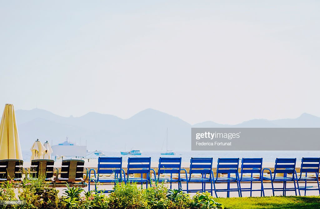 The Croisette in Cannes, France : Stock Photo