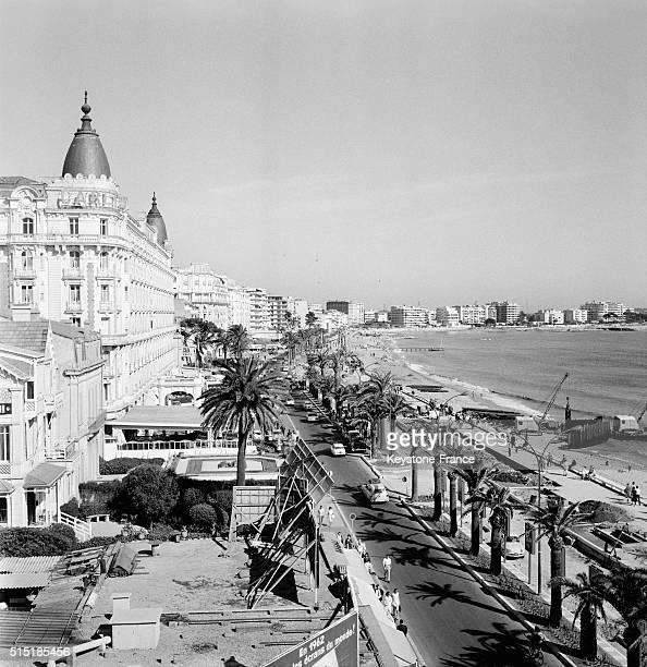 The Croisette With the Carlton Hotel during the Cannes Film Festival in Cannes France on May 9 1962