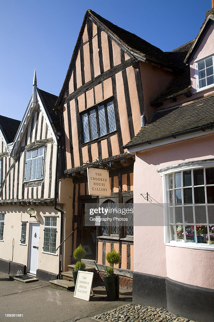 The Crooked House gallery, Lavenham, Suffolk, England : News Photo