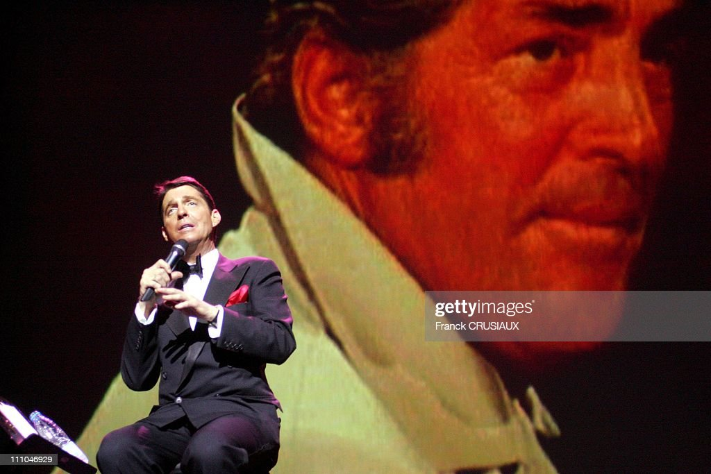 The crooner Ricci Martin son of actor Dean Martin in Valenciennes, France on March 19th, 2005.