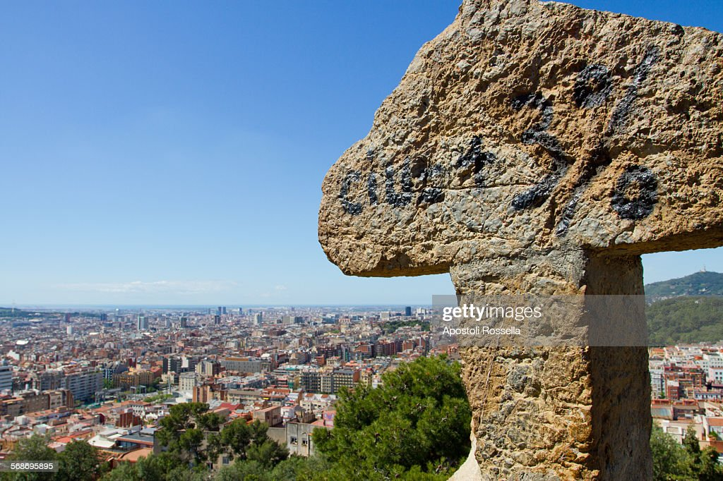 The Cross at Park Guell : Stock Photo