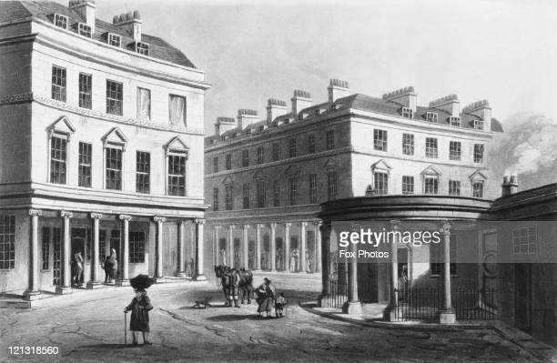 The Cross Bath on Bath Street Bath Somerset 1804 After J C Nattes