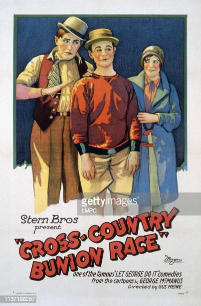 The Cross Country Bunion Race poster US poster from left Syd Saylor Harry Martell Dorothy Coburn 1928