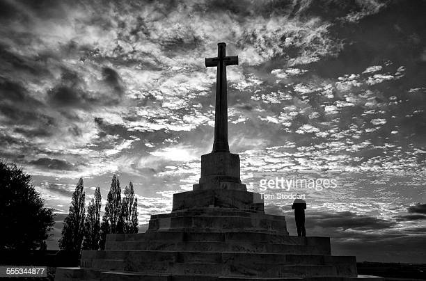 The Cross Of Sacrifice at Tyne Cot Cemetery Tyne Cot Cemetery is the largest Commonwealth cemetery in the world with 11956 Commonwealth servicemen of...