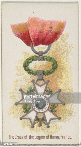 The Cross of the Legion of Honor, France, from the World's Decorations series for Allen & Ginter Cigarettes, 1890. Artist Allen & Ginter.
