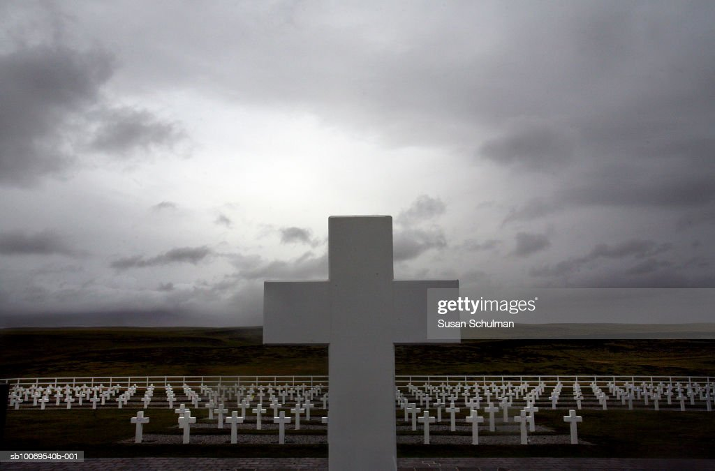 Falkland Islands, Argentine Cemetery : News Photo