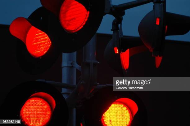 the crossing - red light stock pictures, royalty-free photos & images