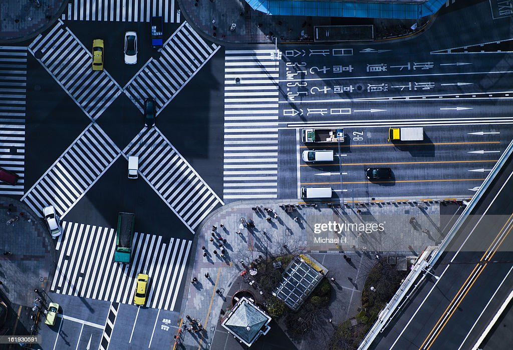 The crossing way of Ginza in Tokyo Japan : Stock Photo