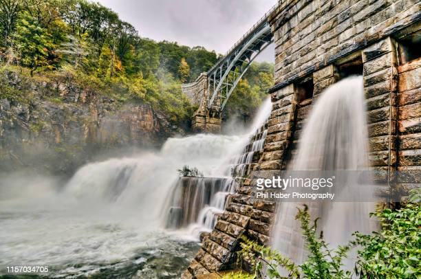 the croton dam after a storm - phil haber stock pictures, royalty-free photos & images