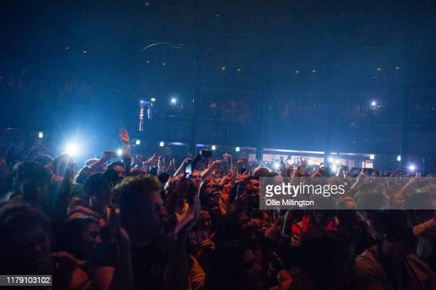 The crowd as Jon Bellion performs on stage at The Roundhouse on October 4, 2019 in London, England.