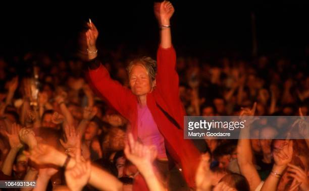 The crowd at Glastonbury Festival watching Paul Oakenfold UK 1994