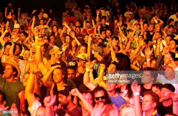 The crowd at Roni Size Reprazent during day three of the Coachella Valley Music Arts Festival 2009 held at the Empire Polo Club on April 19 2009 in...