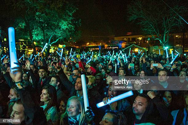 The Crowd at Snoop Liong at Stubb's Austin during South by Southwest on March 9 2014 in Austin Texas