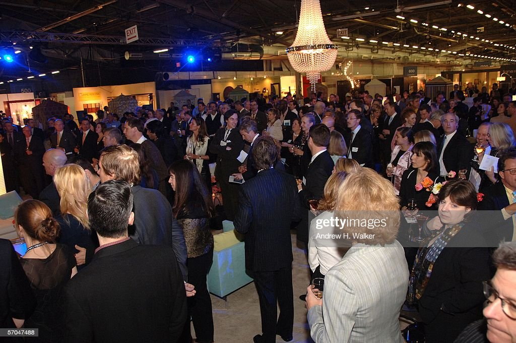 The Crowd At The Architectural Digest Home Design Show Opening Night Gala  Is Seen On March
