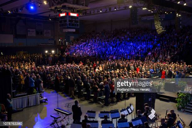 The crowd at the Augusta Civic Center for the inauguration of Janet Mills on Wednesday January 2 2019