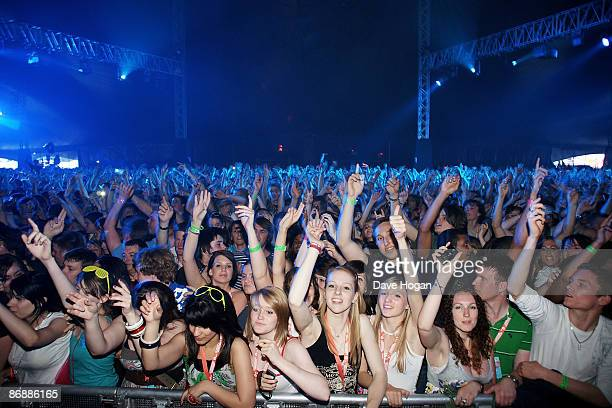 The crowd dance to The Prodigy at Day 2 of Radio 1's Big Weekend held at Lydiard Country Park on May 10 2009 in Swindon England