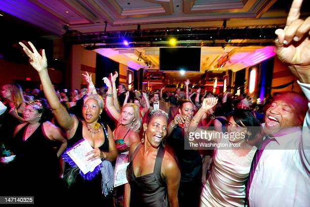 The crowd dances to the sounds of Onyx at the Restaurant Association of Metropolitan Washington RAMMY awards gala held at the Marriott Wardman Park...