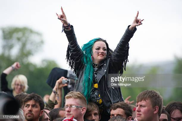 The Crowd during Day 1 of The Download Festival at Donnington Park on June 14 2013 in Donnington England