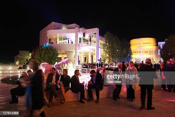 The crowd during the Pacific Standard Time: Art in LA 1945-1980 opening event held at the Getty Center on October 2, 2011 in Los Angeles, California.