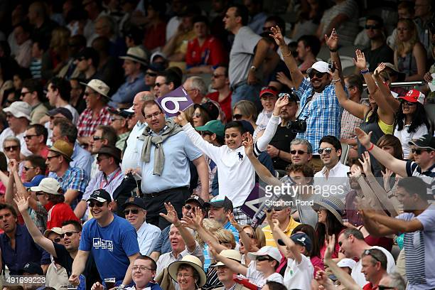 The crowd enjoy the action during the Natwest T20 Blast match at Lord's Cricket Ground on May 17 2014 in London England