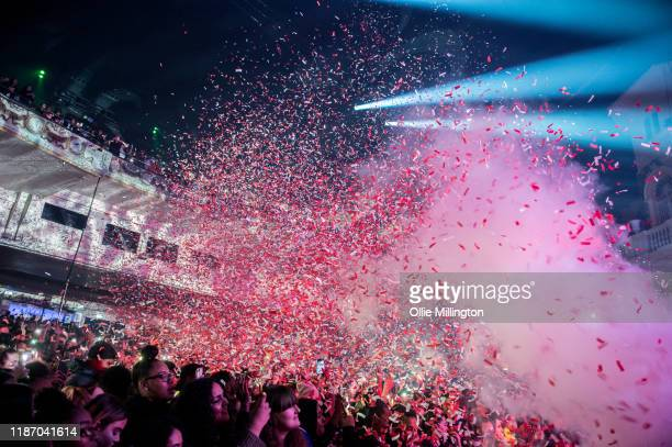 The crowd enjoying the atmosphere as MoStack performs at O2 Academy Brixton on November 11, 2019 in London, England.