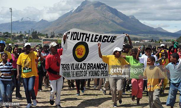 The crowd gathers at the rally and celebration of the ANCYL's 66th anniversary at Coetzenburg Stadium Stellenbosch on October 30 2010 in Cape Town...